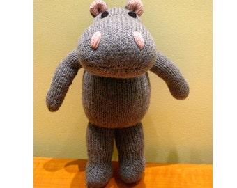 Hippo - Toy Knitting Pattern PDF