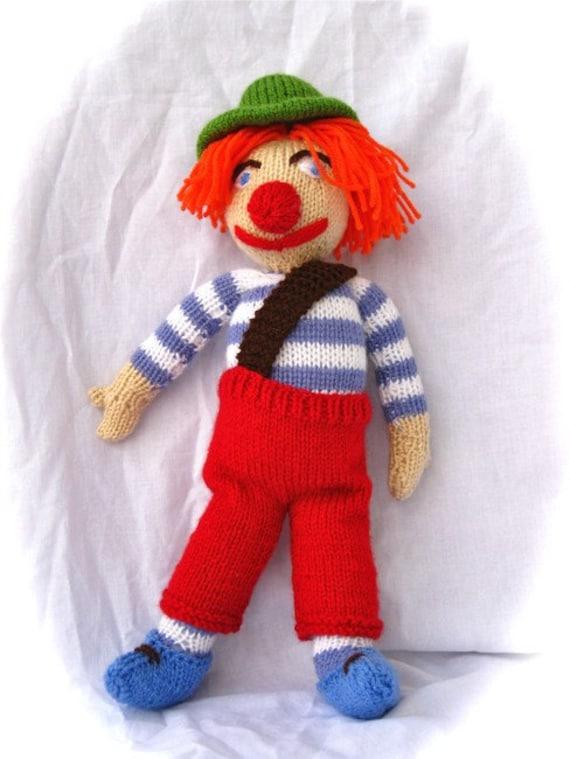 CLOWN - Toy Knitting Pattern PDF