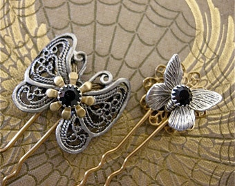 Small Butterfly Hair Pins