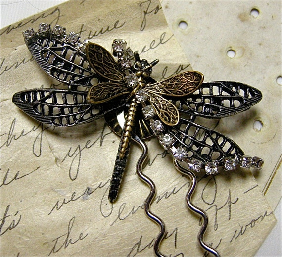 Dragonfly Large Hair Pin