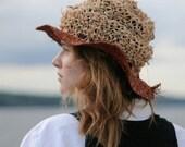 Travelling  Crunch Hat with Wide Orange Brim