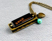 The Harmonica Necklace,  Musical Jewelry, Long Harmonica Pendant, Harmonica Jewelry, Musical Instrument