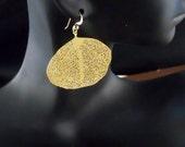 14K Gold Filled Filigree Earrings, Golden Filigree Earrings,  Golden Leaf, Leaf Earrings,Golden Earrings, Leaf, Golden Leaves Earrings