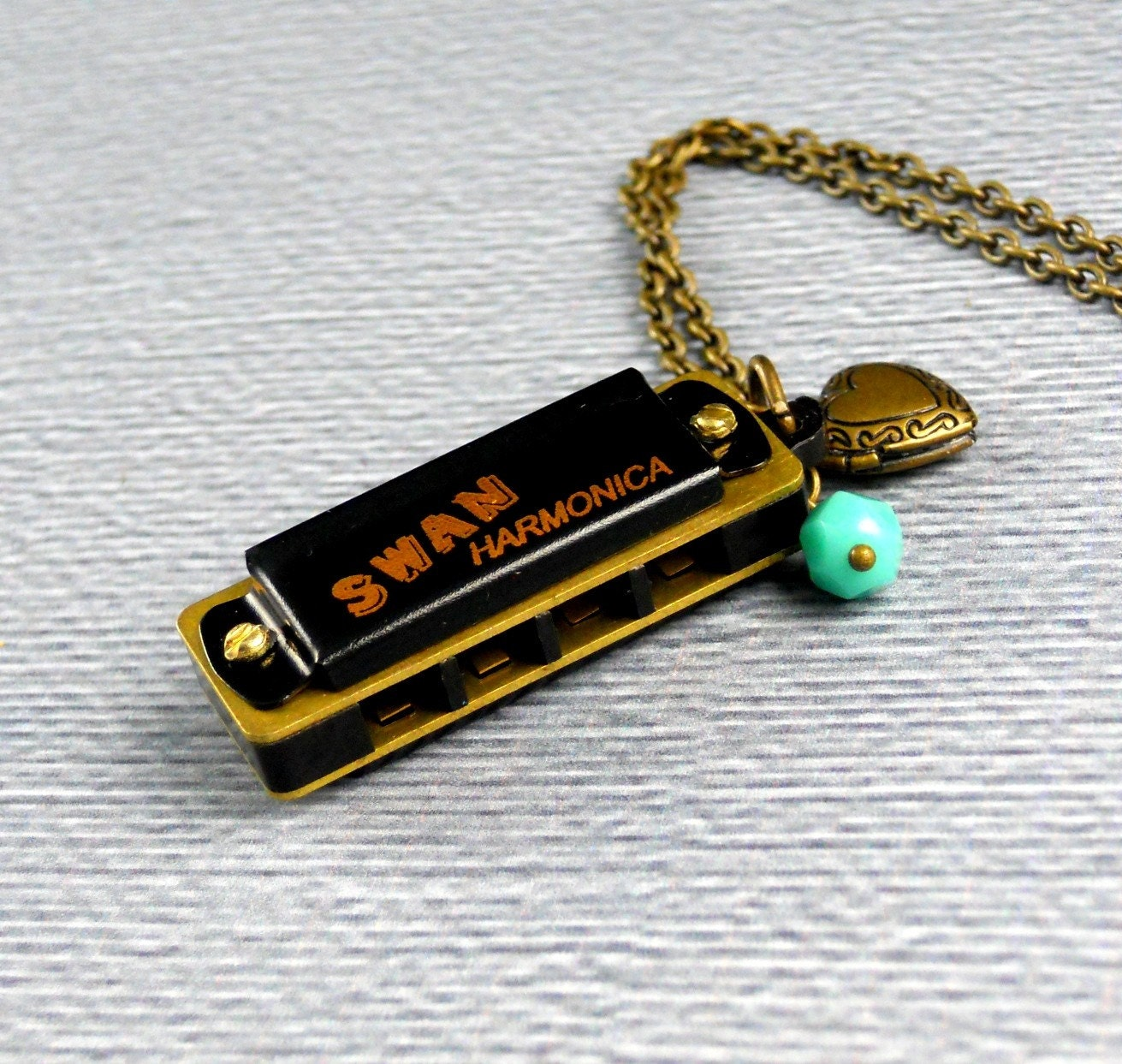 Harmonica Necklace: The Harmonica Necklace Musical Jewelry Long By ManoCelebrates