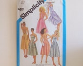 Misses Sundress and Skirt Size 10 Vintage Sewing Pattern by Simplicity 6408