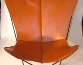 1960's RARE Vintage Retro Leather Butterfly Chair Cover 'Reserved for Vanderlust'