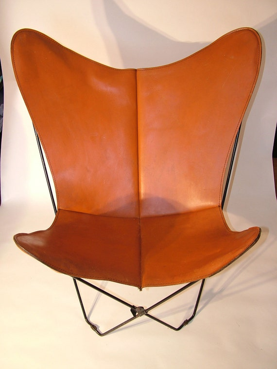 1960 39 s rare vintage retro leather butterfly chair cover. Black Bedroom Furniture Sets. Home Design Ideas