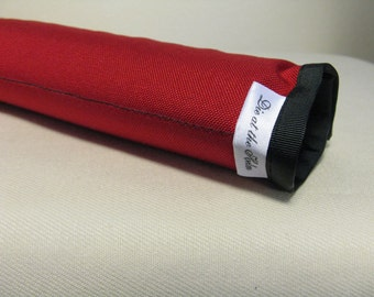 Red and Black Top Tube Bicycle Frame Pad