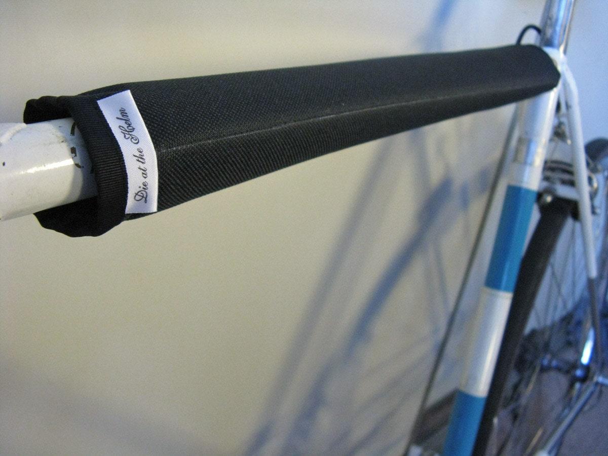 Black Top Tube Bicycle Frame Pad