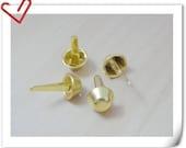 30pcs of  12mm GOLDEN bright brass purse feet  AB46
