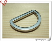 1.25 (1 1/4) inch (inner diameter) Nickel alloying D-rings 10pcs U50