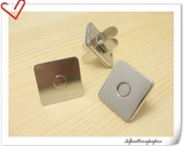 18mm super thin  square nickel magnetic snaps 20Sets F16