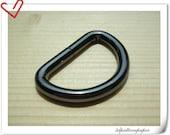 1 inch (inner diameter) gunmetal d-rings 12pcs 5mm thinkness U59