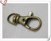 15pcs 4cm Lobster Swivel Clasps for wristlet, key chain, lanyard   J2