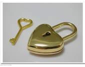 Small padlock  purse lock for bags  4.5cmx2.5cm golden E45
