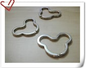 3.2 cm  Key rings Key Holder Purse Rings 10 pcs per bag star  E72