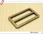 1.5 inch (inner size) Vintage Bronze alloying strap adjuster rectangular sliders10pcs U81