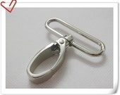2 inch wide inside nickel Swivel snap hook high quality for making bags 6 pcs per bag purse findings E31