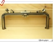 10 inch vintage style Doctor bag  frame Anti bronze   Purse frame ( bag making) K90