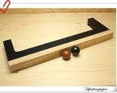 12 3/4 inch  ( 32.5cm) x 4 1/4 inch wooden purse frame  wooden handle    Z2