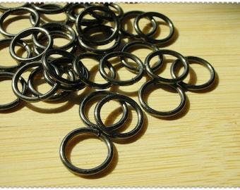 1cm gun metal o-rings 30pcs i27