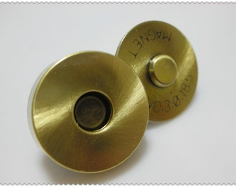 18mm Anti brass brushed Magnetic Snap Closures  20set   F9