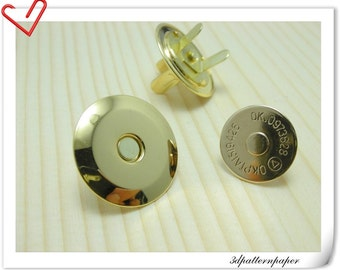 20mm super thin golden magnetic snap (strongly magnetic) 20sets F19