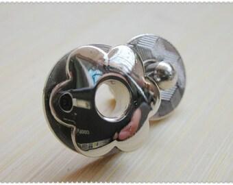 17mm hexapetalous flower Magnetic Snaps bag button purse Magnetic Snaps button Nickel F50