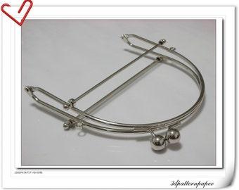 6inch half round metal purse frame bag purse frame metal clip Y13