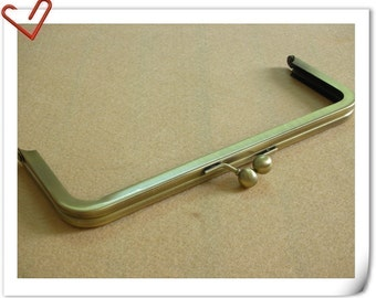 8 inch x 3 inch anti bronze brush purse frame  (without loops)   Y3