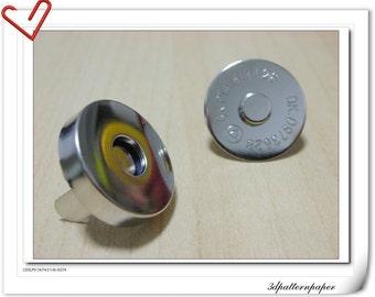18mm Nickel Color Magnetic Snaps Per Bag of 20 Sets Magnetic Fastener  F5