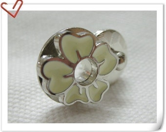 17mm flower Magnetic Snaps bag button purse Magnetic Snaps button CREAM F48