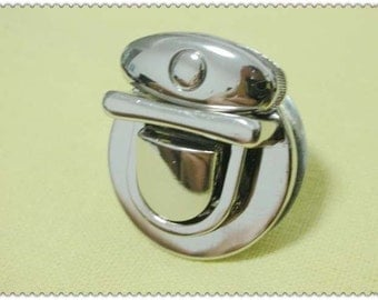 1 3/8 inch x 1 1/4 inch Thumb Catch ( tongue clasp) nickel E57