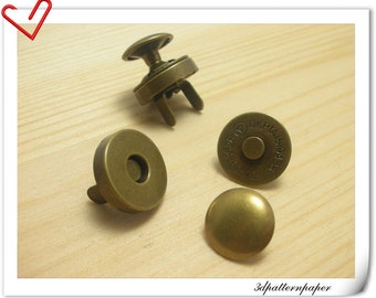 14mm RIVET Magnetic Snaps button Anti bronze 20sets F37