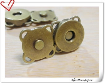 14mm sewing Magnetic Snaps closures anti brass 20sets F28