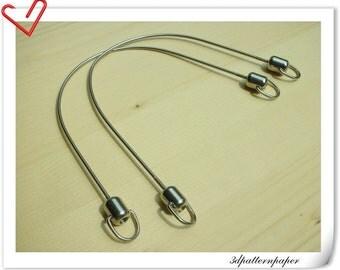 30cm (total length)  beaded  handle  frame K80