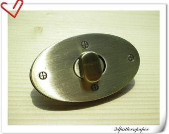 2.5  inch twist locks Purse Lock Anti brass E66