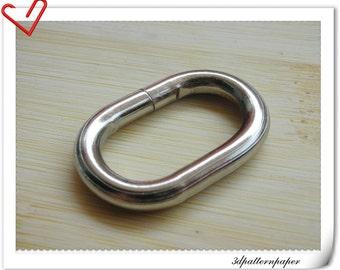 1.25 inch (inner diameter) nickel metal oval rings, oval loop 10pcs U45