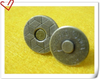 14mm thin anti gold Magnetic Snap Closures Per Bag of 20 Sets Magnetic Fastener F13