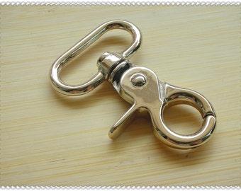 1.5 inch (eyesize,inside diameter ) PALE GOLD hooks 6pcs AB40