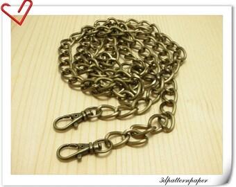 120cm  Anti brass light weight aluminous chains for purse & bag rustless K58