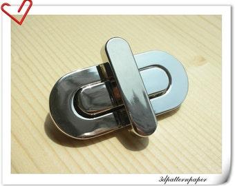 twist-locks 4.5cm Purse Flip Locks puse locks  nickel  E61