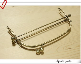 New 8 inch x 3 inch antique bronze  portable metal purse frame (purse frame wholesale) Y18