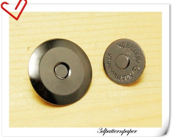 20mm super thin gunmetal magnetic snap  (strongly magnetic) 20sets F33