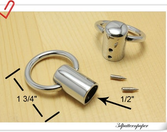8pcs Silver cord cap end stopper Rope stopper  belt stopper E29