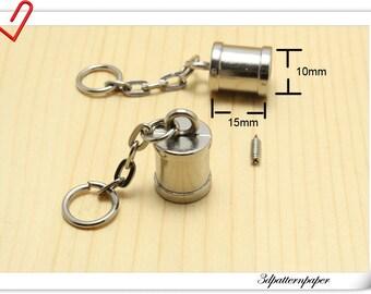 8pcs Silver tassel Cap tassel keychain hardware  cord cap end stopper Rope stopper  belt stopper E25