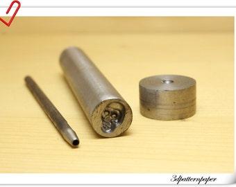 Skull rivets setting tools  12mm x 7.5mm   S5