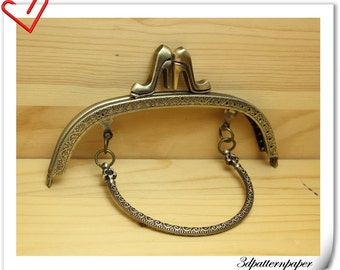 6 1/4 inch (16cm) sewing purse frame with hanlde C9