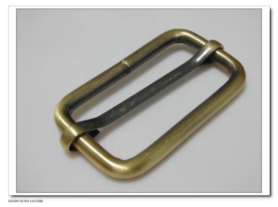 1 1/2 inch 1.5 inch (inner diameter) anti bronze rectangle strap adjuster   sliders for bags fingdings 10pcs per bag U32