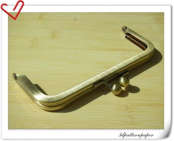 6 inch x 2 1/2 inch anti brass purse frame   L7
